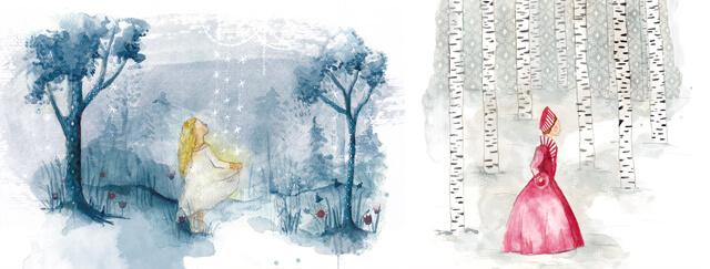 Aquarell Märchen illustrieren
