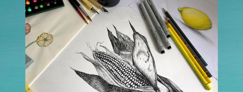 Zeichentechniken II - Kurs für Jugendliche bei studio linea
