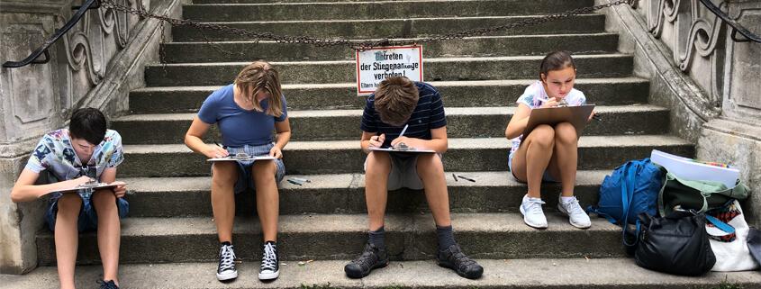Urban Sketching Kurs für Jugendliche bei studio linea